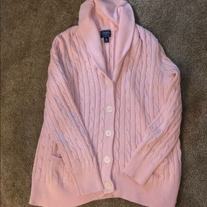 Chaps 2X womens sweater long sleeve pink